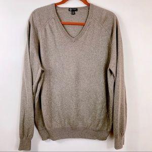J. CREW Cashmere Blend Long Sleeve V-Neck Pullover